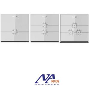 کلید های تبدیل لمسی ولیان با قاب شیشه ای مدل L&N